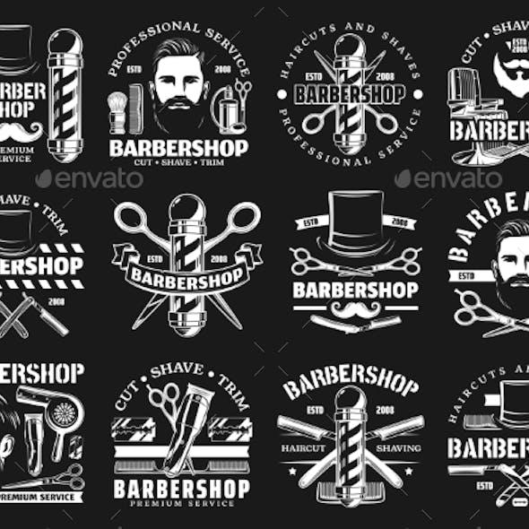 Barbershop Premium Haircut Salon Beard Shaving