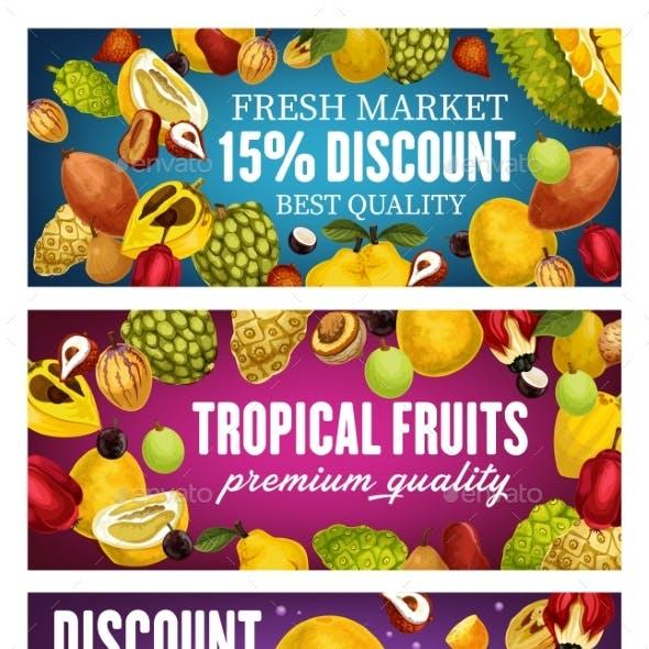 Exotic Fruits Tropical Farm Market Promo Offer