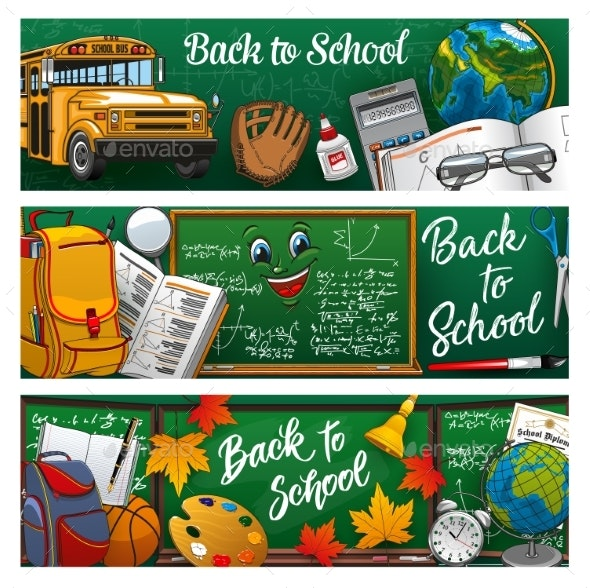 Back To School Lettering Study Symbols - Backgrounds Decorative