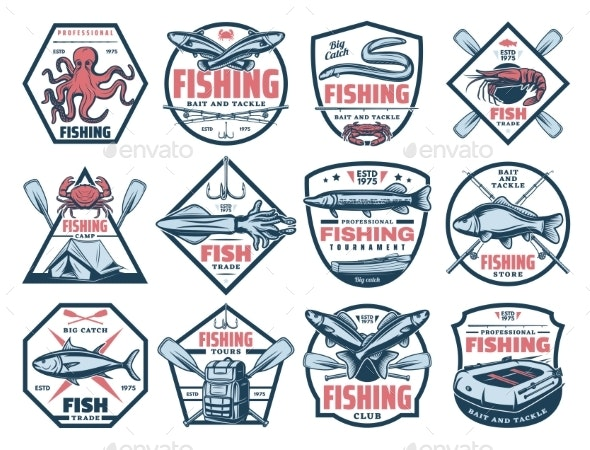 Fishing Icons - Sports/Activity Conceptual
