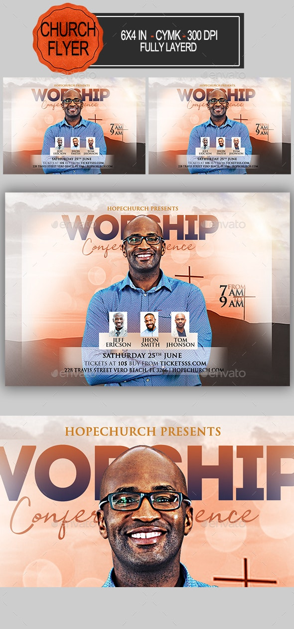 Worship Conference Flyer - Church Flyers