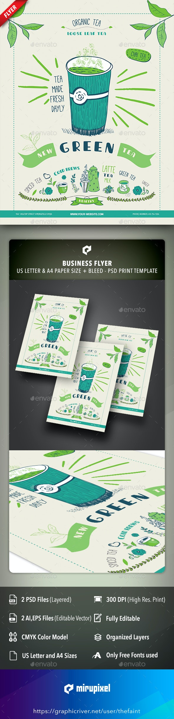 Tea Business Flyer - Commerce Flyers