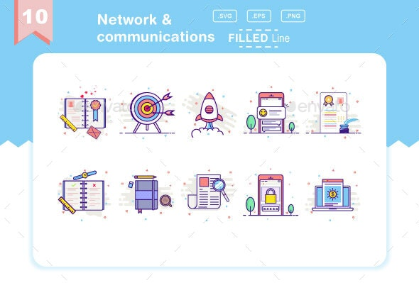 Network & communications - Icons
