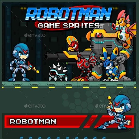 Robotman Game Sprites