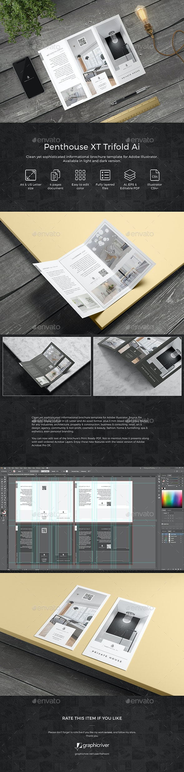 Penthouse XT Trifold Ai - Informational Brochures