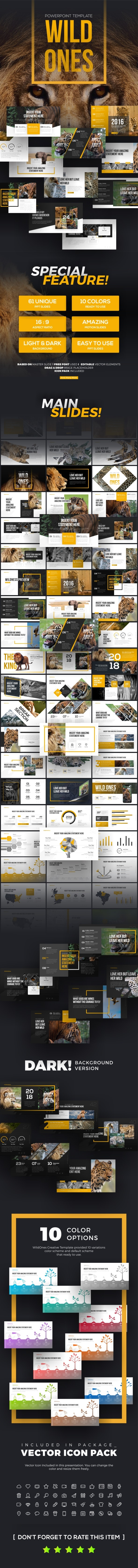 Wildones Nature & Wildlife PowerPoint Template - PowerPoint Templates Presentation Templates
