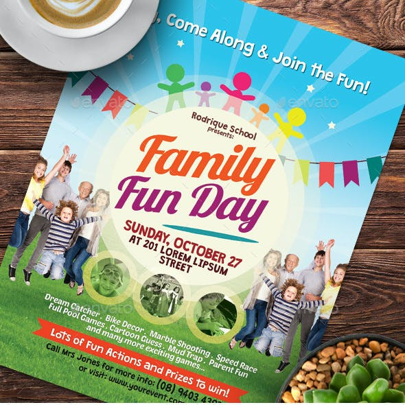 Alternative Family Fun Day Flyers
