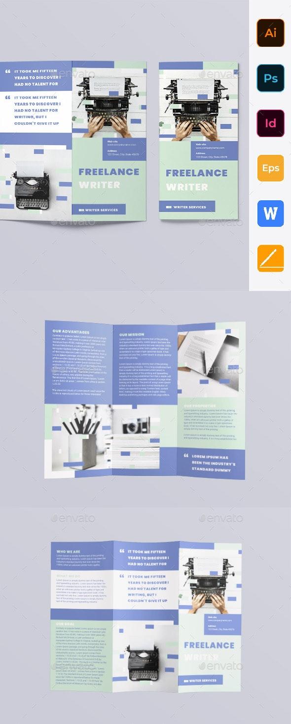 Freelance Writer Trifold Brochure - Corporate Brochures
