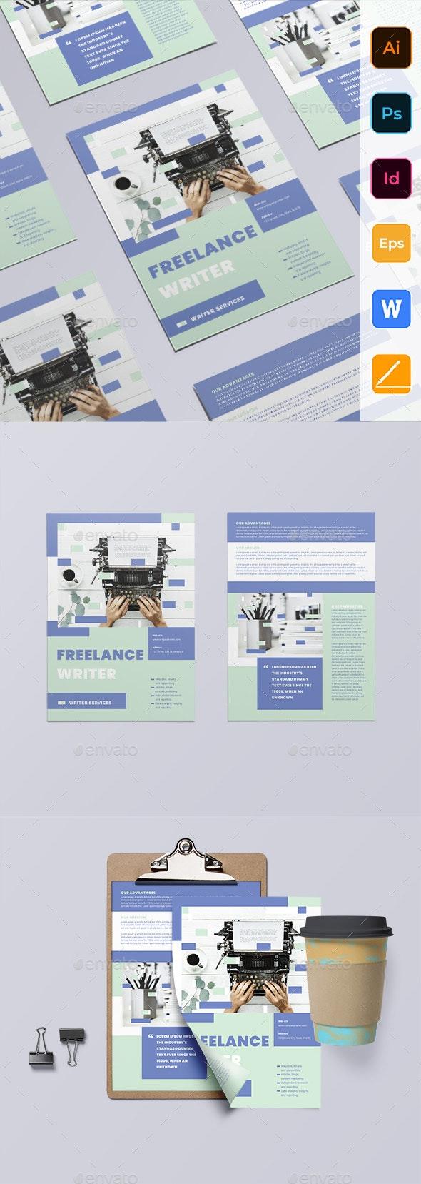 Freelance Writer Flyer - Corporate Flyers