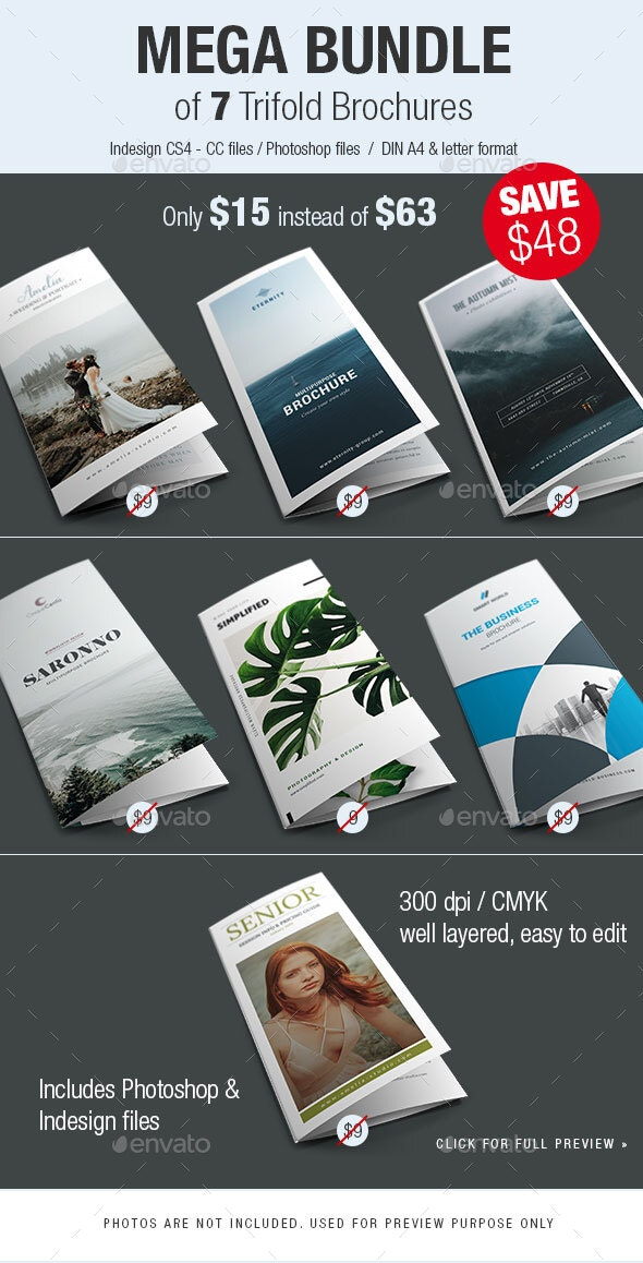Trifold Brochure Bundle Vol.2 - Brochures Print Templates