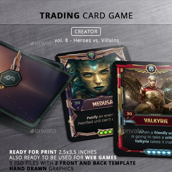 TCG Creator - Vol 8 - Heroes VS Villains