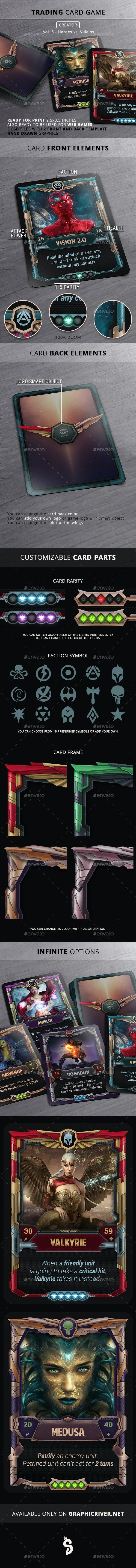 TCG Creator - Vol 8 - Heroes VS Villains - Miscellaneous Game Assets