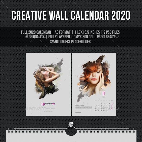 Creative Wall Calendar 2020 V06
