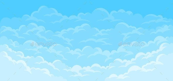 Simple Sky Background with Clouds - Landscapes Nature