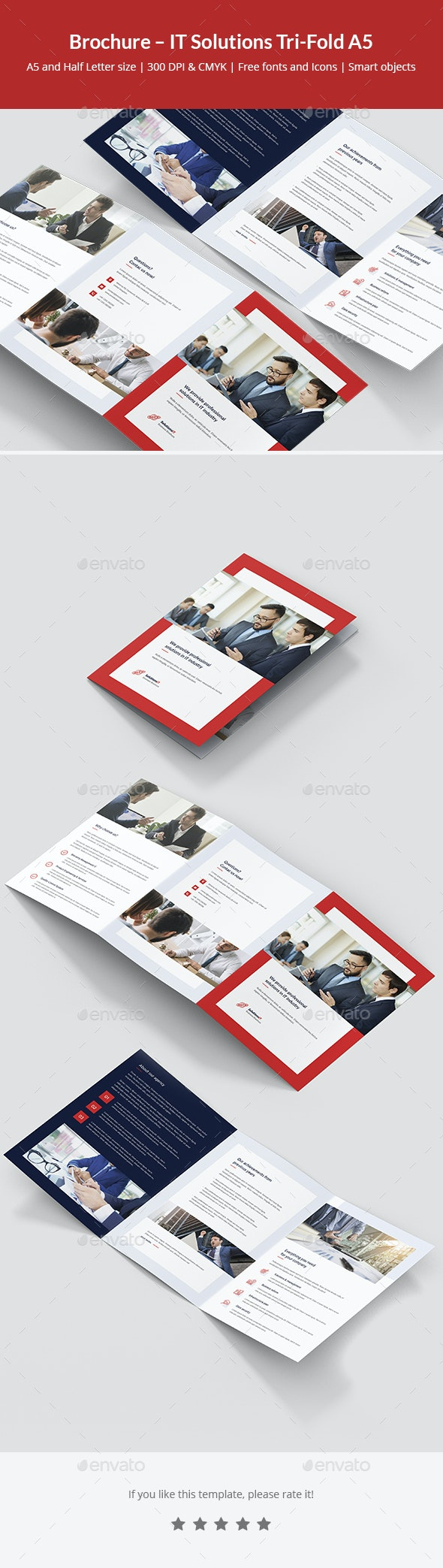 Brochure – IT Solutions Tri-Fold A5 - Corporate Brochures