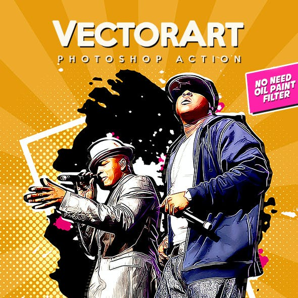 VectorArt - Photoshop Action