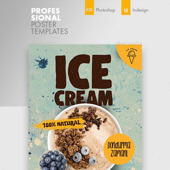 Ice Cream Poster Templates