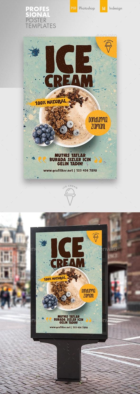 Ice Cream Poster Templates - Signage Print Templates