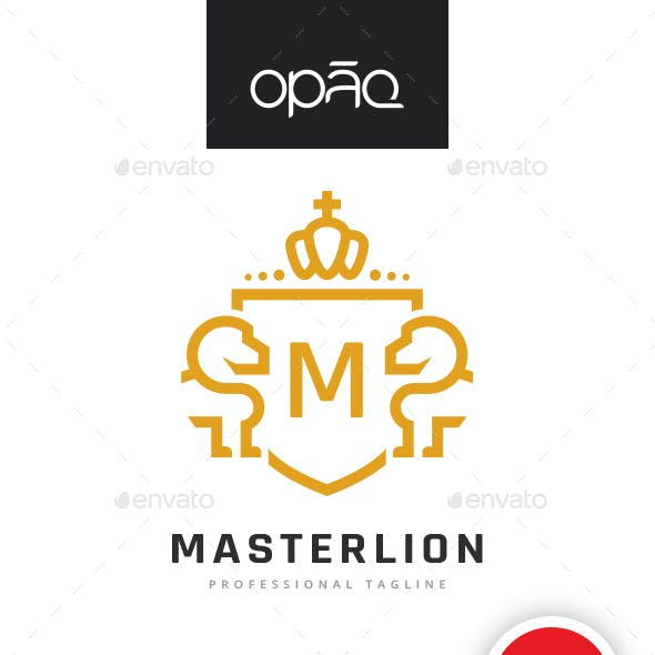 Lion Crest Editable Letter Logo