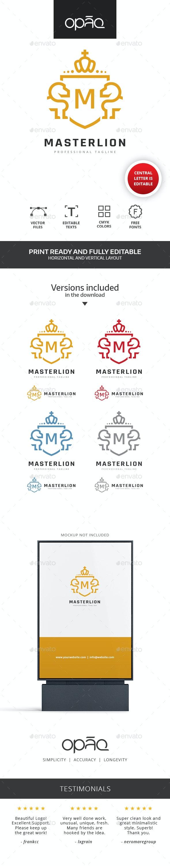 Lion Crest Editable Letter Logo - Crests Logo Templates