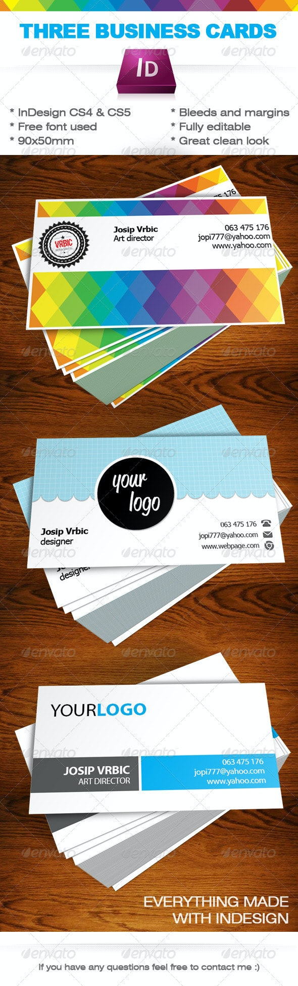 Business Cards InDesign Templates - Corporate Business Cards