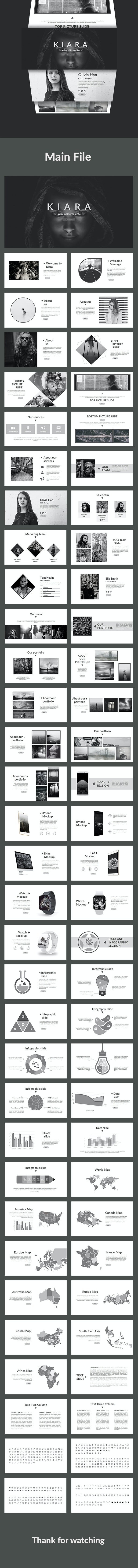 Kiara -  Creative Google Slides Template - Google Slides Presentation Templates