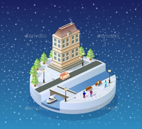 Winter Christmas Landscape - Christmas Seasons/Holidays