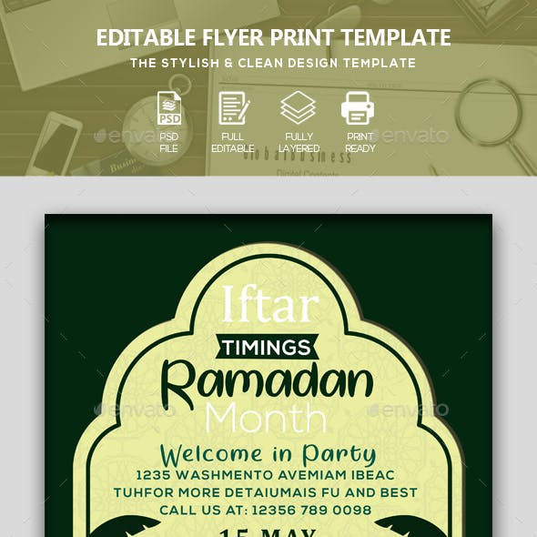 Ramadan Mubarak Flyer/Poster
