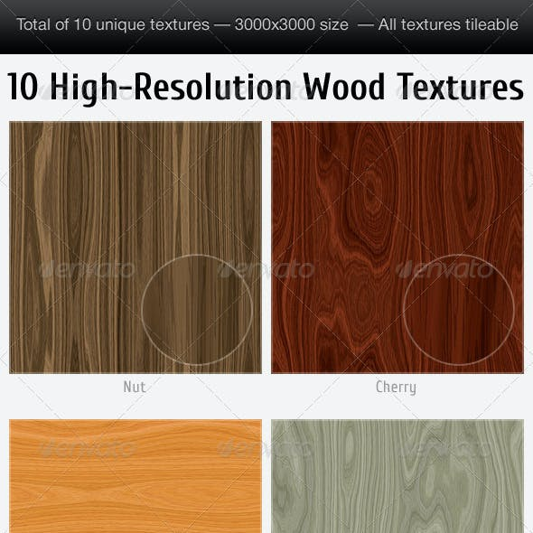 10 Unique Tileable High-Resolution Wood Textures