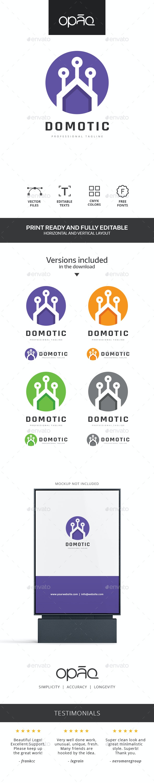 Home Domotic Technologies Logo - Buildings Logo Templates