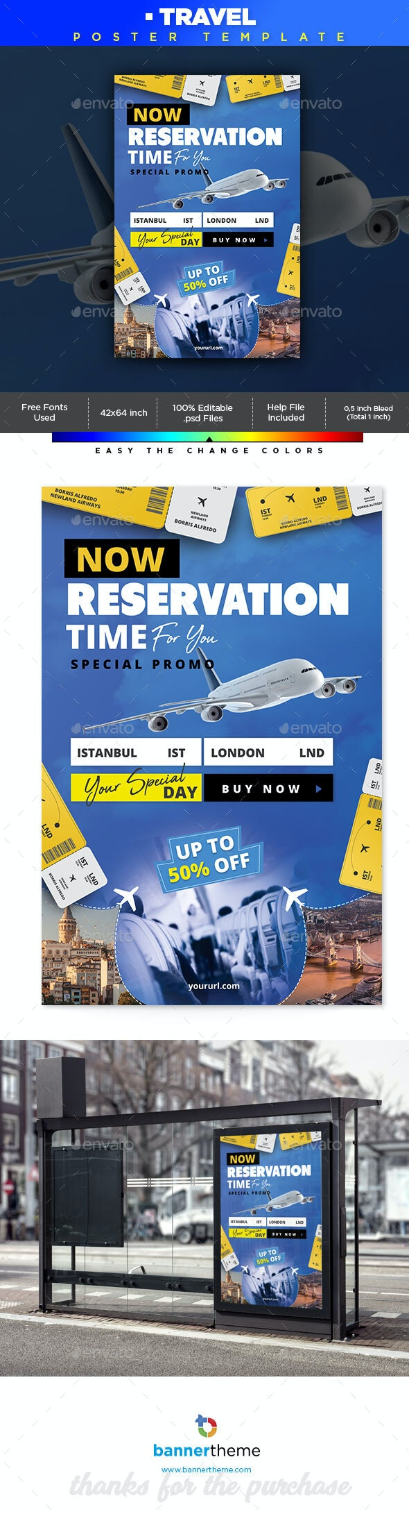 Travel Poster - Signage Print Templates