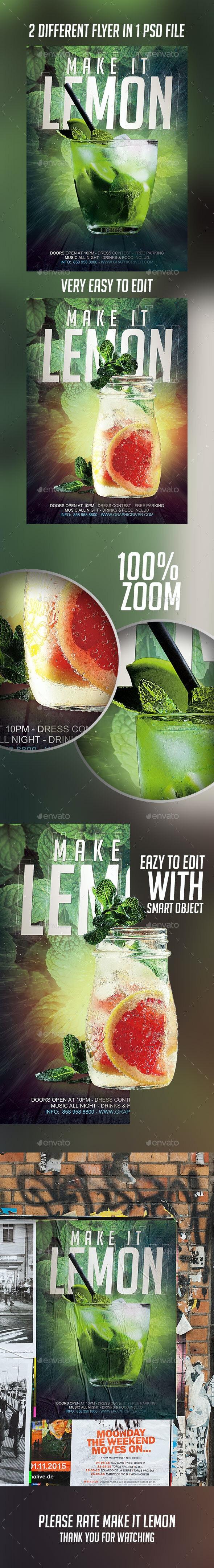 Make it Lemon Flyer - Flyers Print Templates