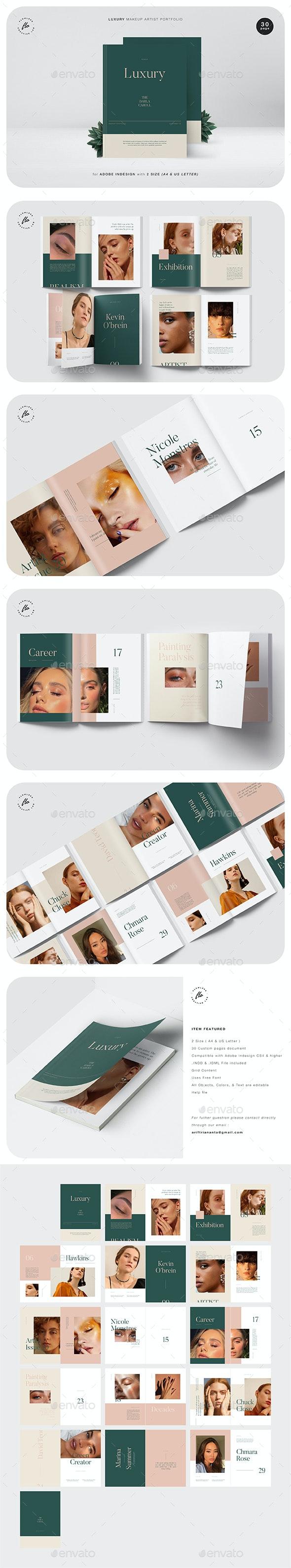 Luxury Makeup Artist Portfolio - Magazines Print Templates
