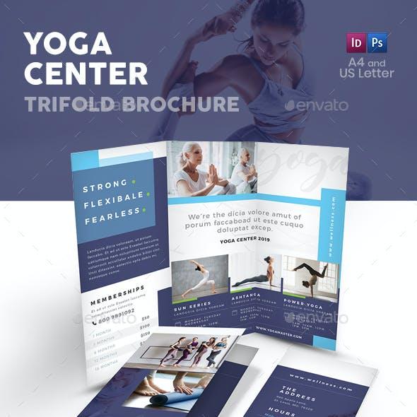 Yoga Center Trifold Brochure 4