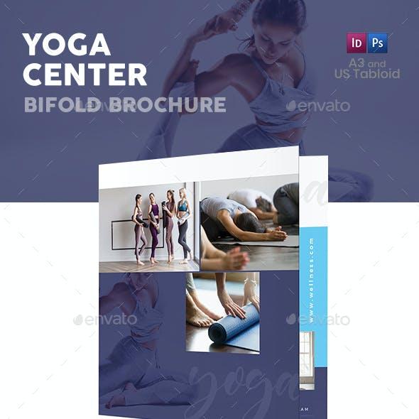 Yoga Center Bifold / Halffold Brochure 4