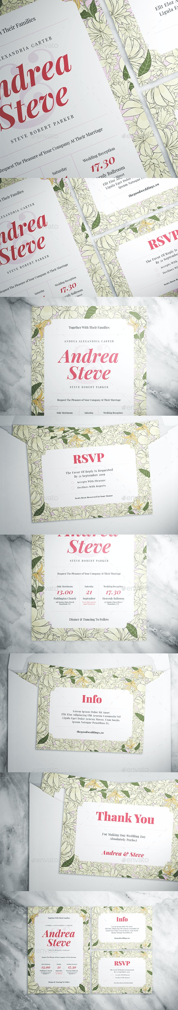 Flower Wedding Suite - Weddings Cards & Invites