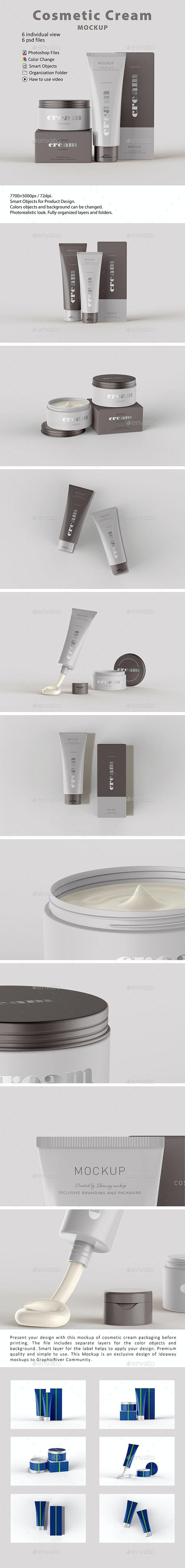 Cosmetic Cream Mockup - Beauty Packaging