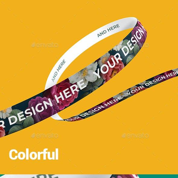 Ribbon Branding Mockup