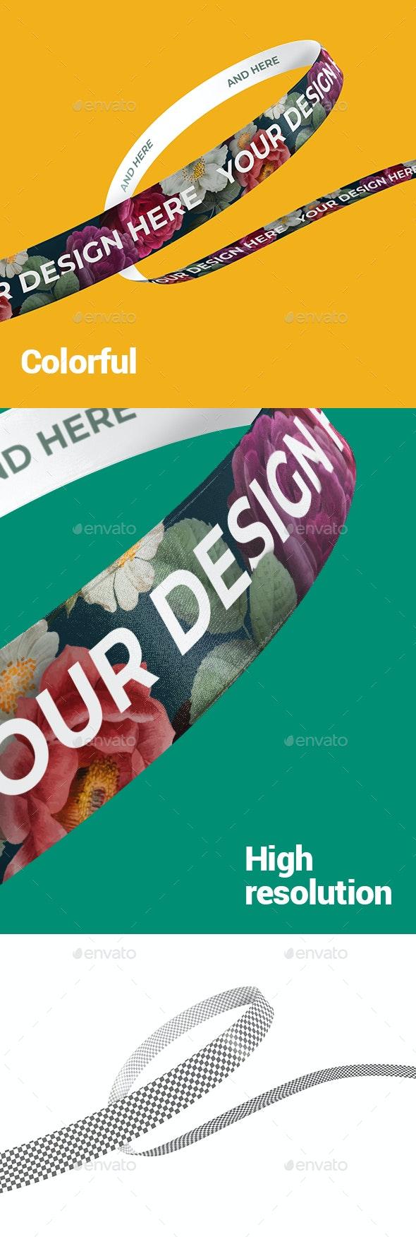 Ribbon Branding Mockup - Print Product Mock-Ups