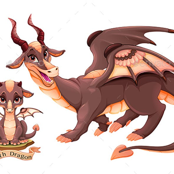 Dragon of Earth Element in Two Variation Puppy and Adult
