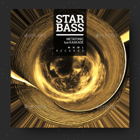 Star Bass - Progressive Music Album Cover Artwork Template