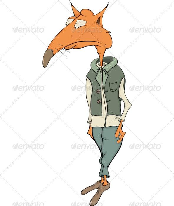 Red Fox Cartoon - Characters Vectors