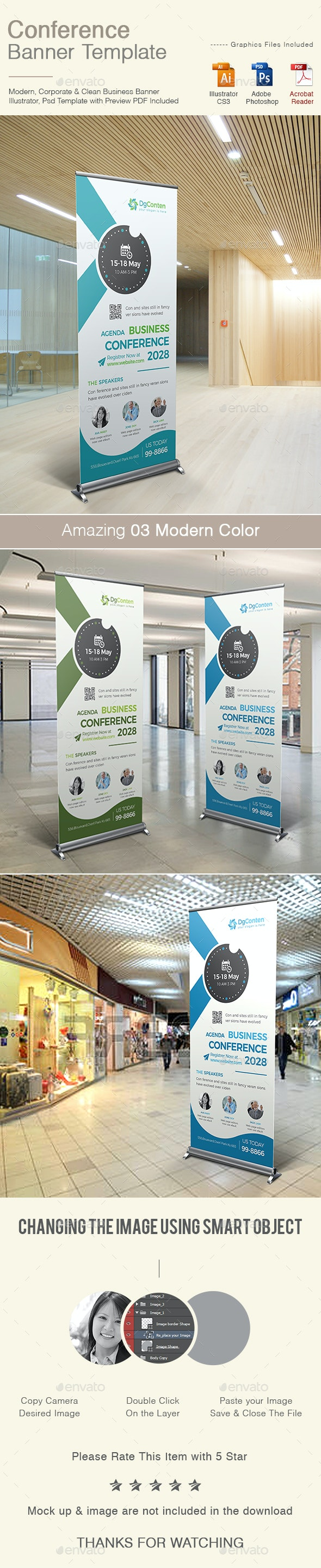 Conference Banner - Signage Print Templates