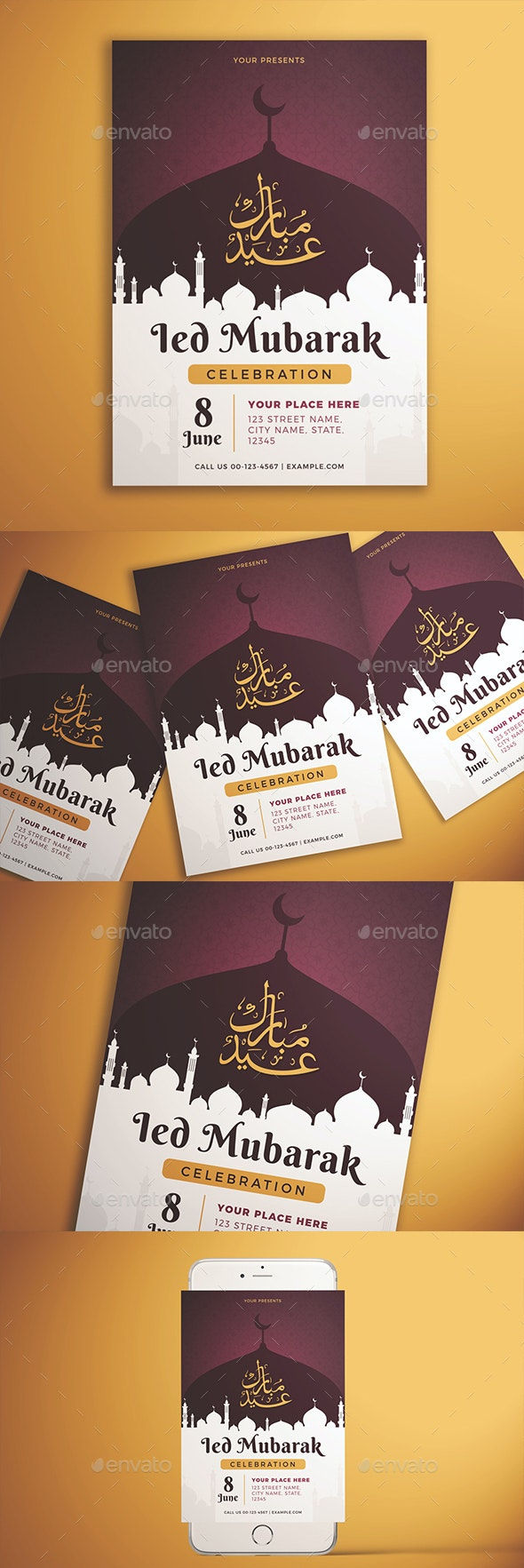 Ied Mubarak Celebration Flyer - Holidays Events