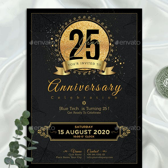 Corporate Anniversary Graphics Designs Templates Page 4