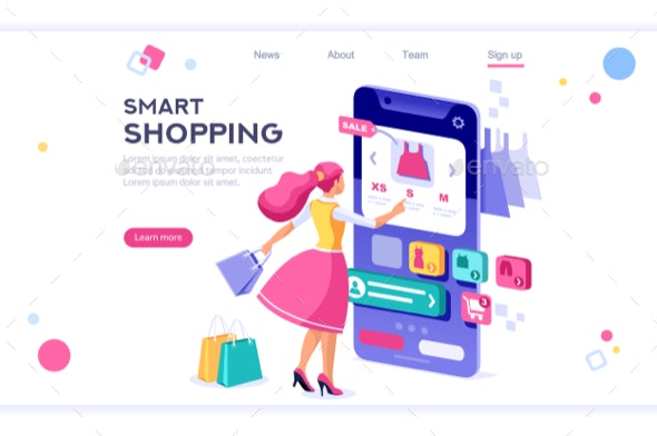 E-Commerce Buyer Concept - Retail Commercial / Shopping