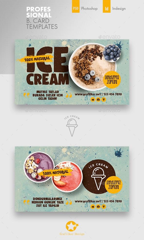 Ice Cream Business Card Templates - Corporate Business Cards