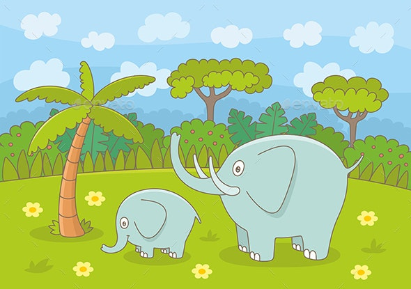 Elephant Family - Animals Characters