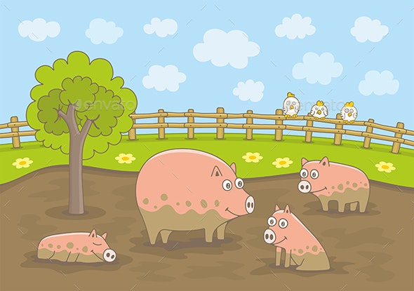 Pig Family - Animals Characters