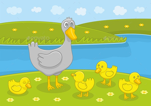 Duck Family - Animals Characters